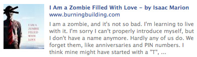 I'm a zombie filled with love